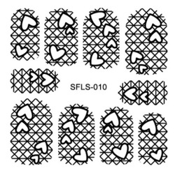 Metallic Filigree Nail Stickers