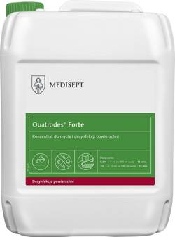 Quatrodes® Forte - Concentrate for cleaning and disinfection of surfaces, 5 L