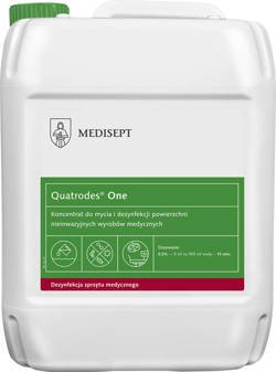 Quatrodes® One - Concentrate for cleaning and disinfecting surfaces of non-invasive medical devices, 5 L