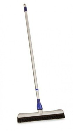 Rubber broom with telescopic handle