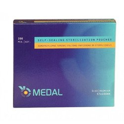Self - Sealing sterilization pouches, 200 pcs, 5,7 cm x 10 cm