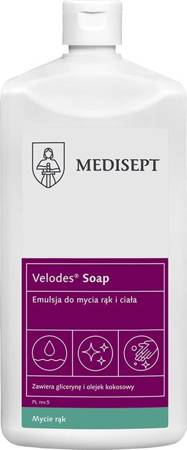 Velodes® Soap Emulsion for hand and body washing, 500 ml